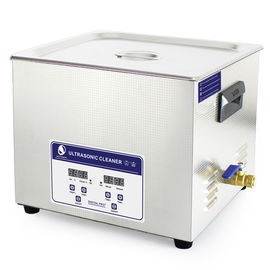 JP -060S 40KHz 15L Benchtop Ultrasonic Cleaner , electric fule stencil ultrasonic cleaning machine